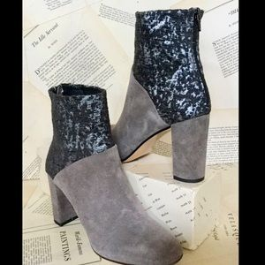 Cubana's Suede Fabric Back Zip Heel Boot 37/6